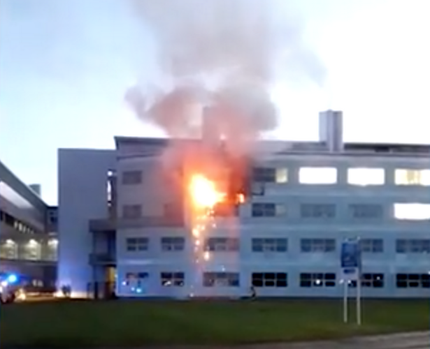 Firefighters extinguish blaze at a St Andrews University building