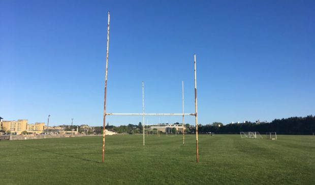 Station Park's rusty rugby posts to be replaced at last