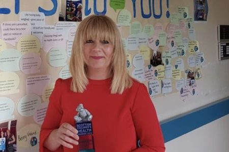 NHS Fife Development Worker wins Scottish Children's Health Award