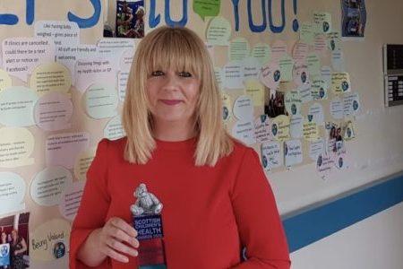 NHS Fife Development Worker wins Scottish Children's Health Award